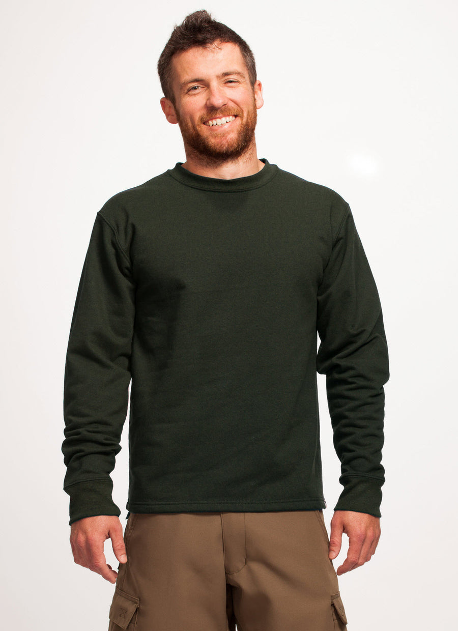 Men's Green Crew Sweatshirt