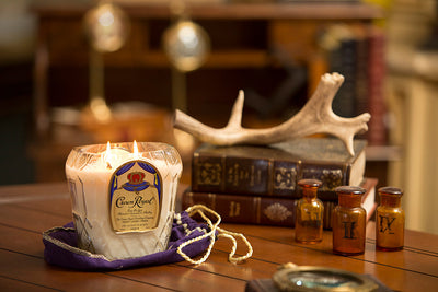 Crown Royal Glass Bottle Candle