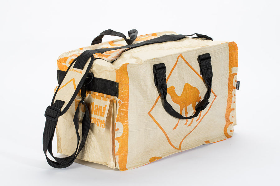 Small Feed Sack Duffel Bag - Tan