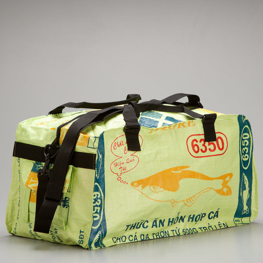 Medium Feed Sack Duffle Bag in Lime