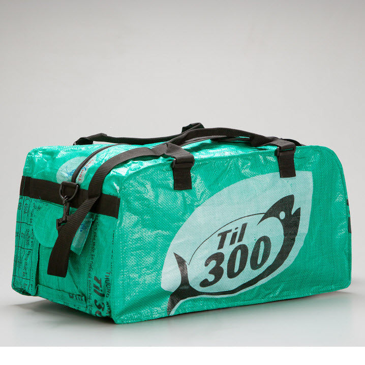 Medium Feed Sack Duffle Bag in Pine Green
