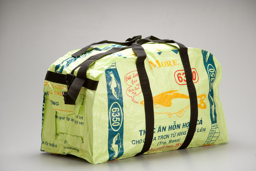 Large Feed Sack Duffle Bag in Lime