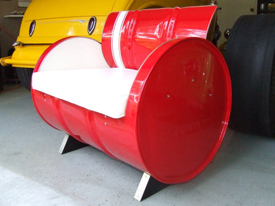 Drum Barrel Red Metal Stingray Armchair
