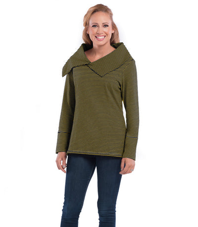 Daffodil Women's Eco-Friendly Top - Charcoal/Maize
