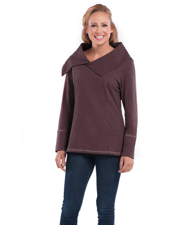 Daffodil Women's Eco-Friendly Top - Earth/Merlot