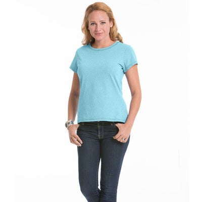 Women's Daisy Fitted Top - Turquoise
