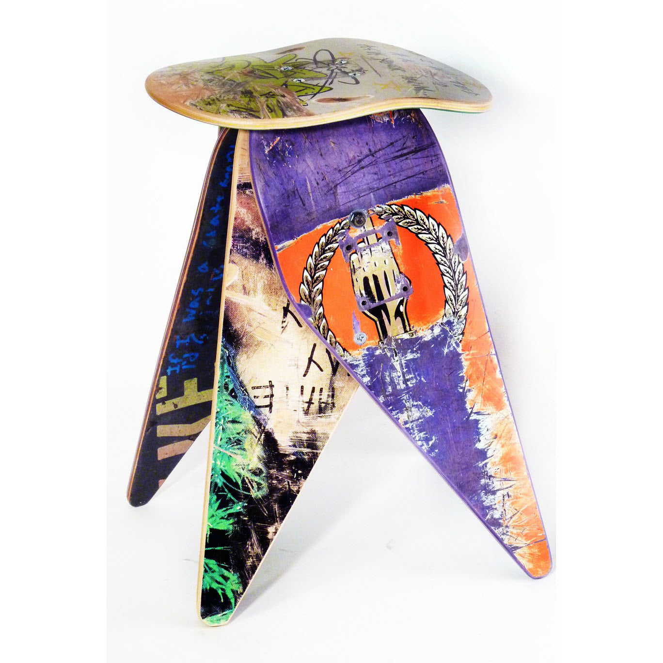 3a8d8181979 Recycled Skateboard Stool - The Spotted Door