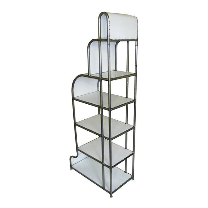 Reclaimed Metal Deco Tower Shelf