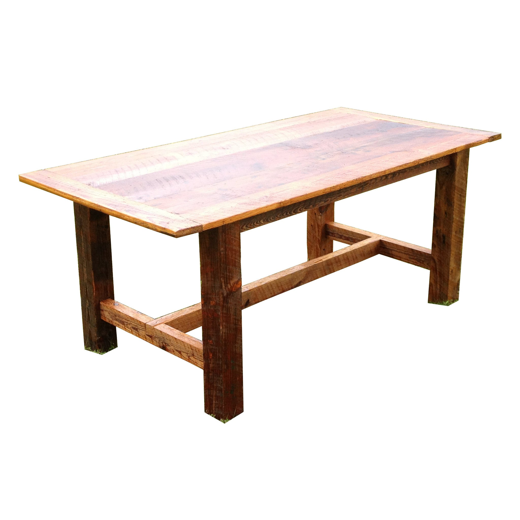 Rusted Nail Reclaimed Wood Dining Room Table - The Spotted Door