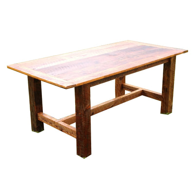Rusted Nail Reclaimed Wood Dining Room Table