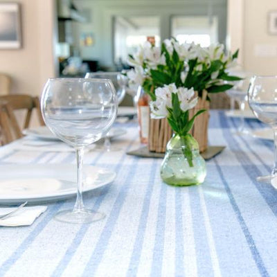 Eco-Friendly Woven Stripe Table Covering