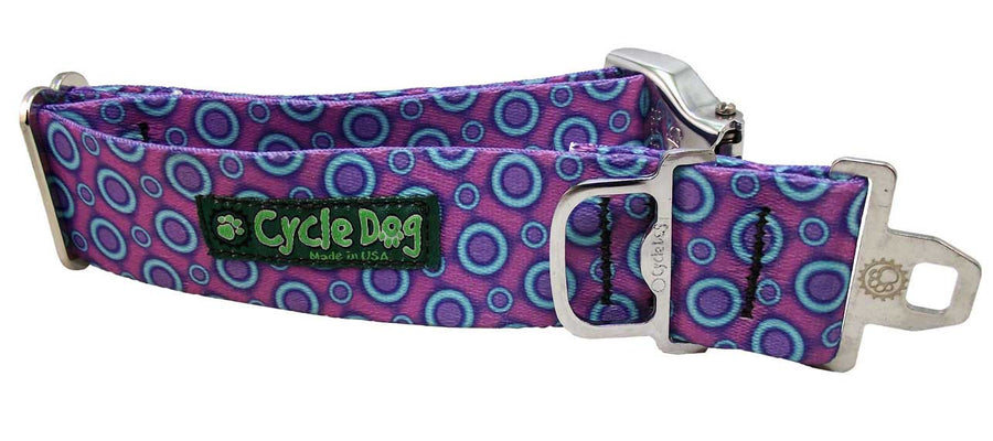 Purple Blue SpaceDots Dog Collar