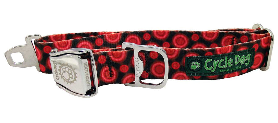 Red SpaceDots Dog Collar