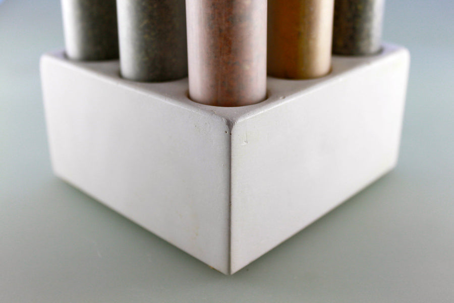 Empty Spice Set Tubes with Concrete Base