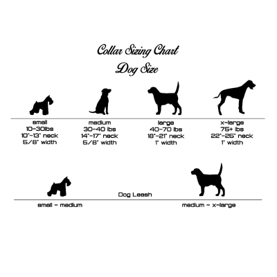 Red Fire Hose Dog Collar Size Chart