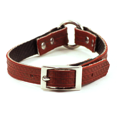 Red Fire Hose Dog Collar