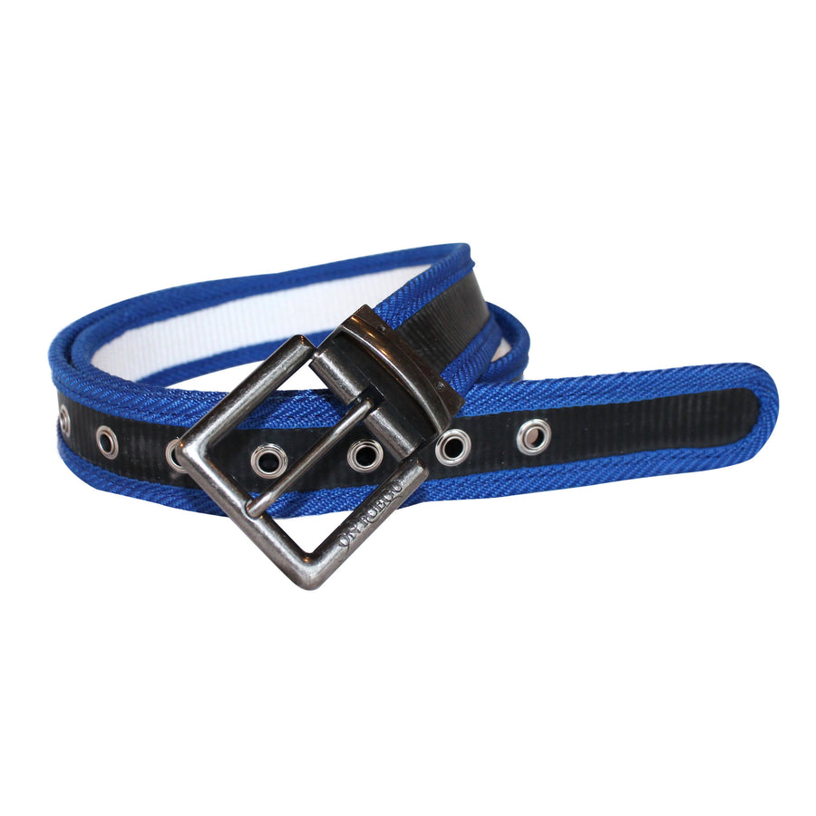 Fire Hose Reversible Blue Belt