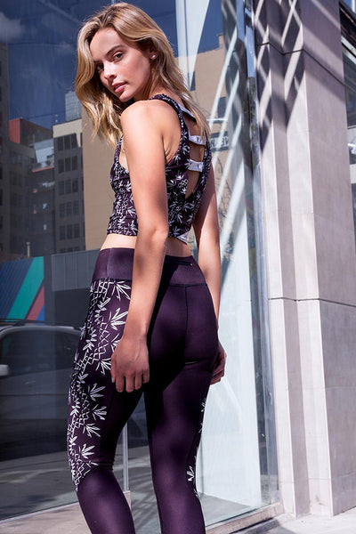 Flora Helix Crop Leggings