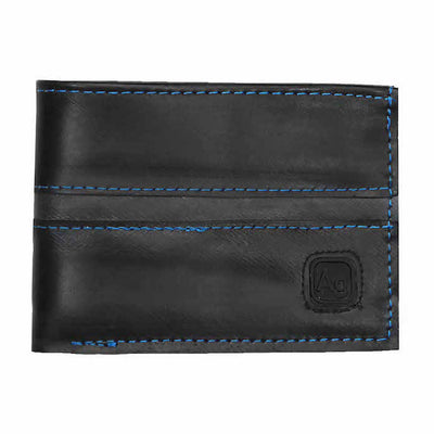 Franklin Eco Vegan Rubber Wallet - Blue Stitching