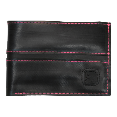 Franklin Eco Vegan Rubber Wallet - Pink Stitching