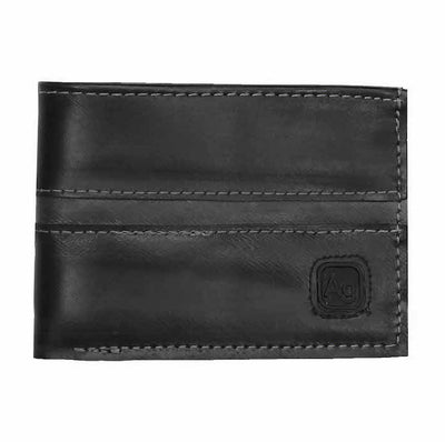 Franklin Eco Vegan Rubber Wallet - Silver Stitching