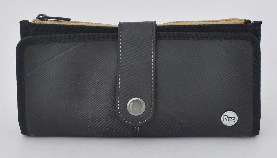 Long Recycled Rubber Women's Wallet (Khaki)