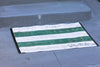 Fire Hose Floor Mat - Green/White 2x3