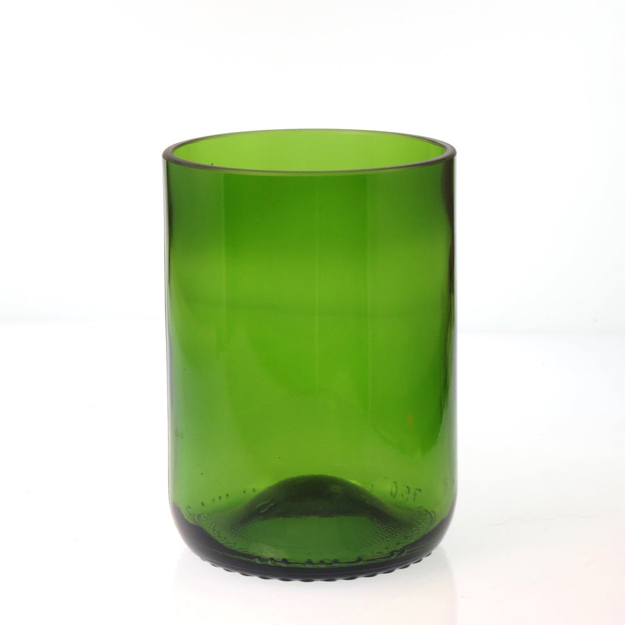 Green Short Recycled Bottle Glass