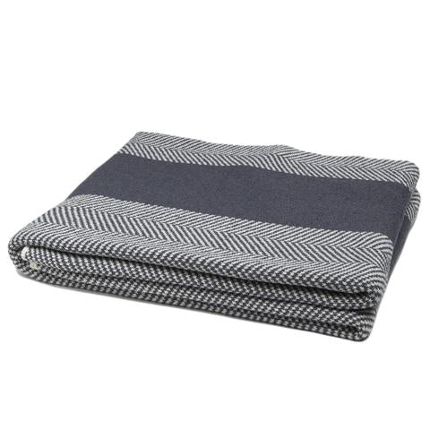 Eco Herringbone Stripe Throw Blankets