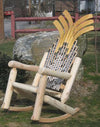 Hockey Stick Log Rocking Chair