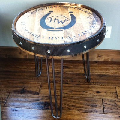 High West Whiskey Barrel Side Table