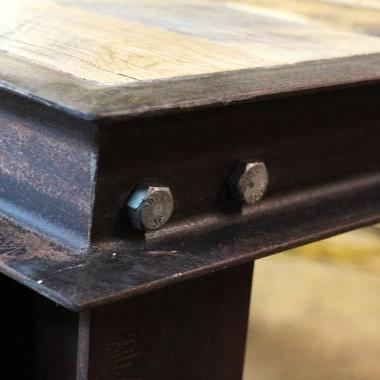 Industrial Reclaimed Wood High Top Table