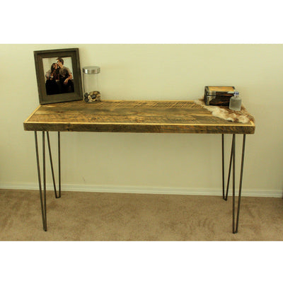 Reclaimed Wood Console Table With Wax Finish