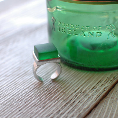 Recycled Jameson Bottle Ring