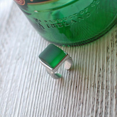 Recycled Jameson Bottle Glass Ring