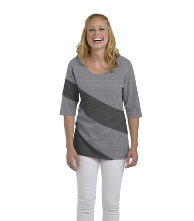 Holly Eco-Friendly Women's Top - Charcoal/Cloud