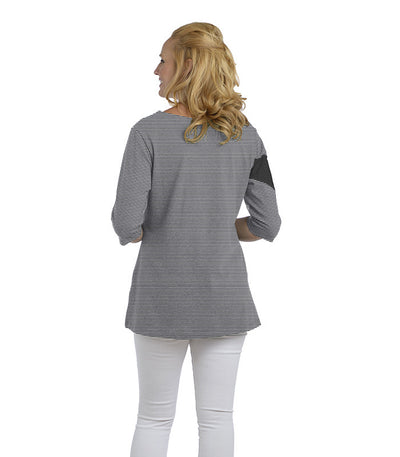 Holly Eco-Friendly Women's Top - Charcoal/Cloud (back)