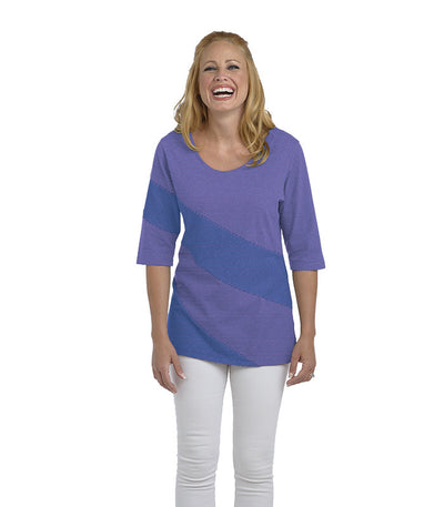 Holly Eco-Friendly Women's Top - Lilac/Chamblue