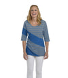 Holly Eco-Friendly Women's Top - Sapphire/Sand