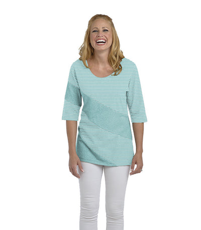Holly Eco-Friendly Women's Top - Sky/Cloud