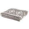 Eco Zuni Reversible Throw Blanket (Hemp/Milk)