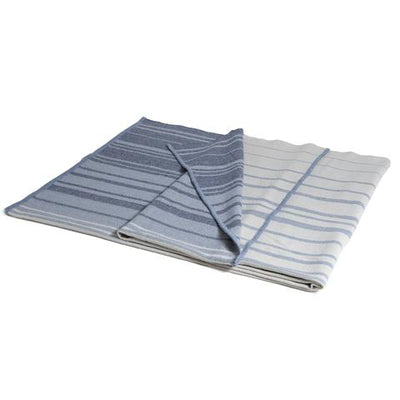 Eco Woven Stripe Throw (Blue Stripe/Milk)