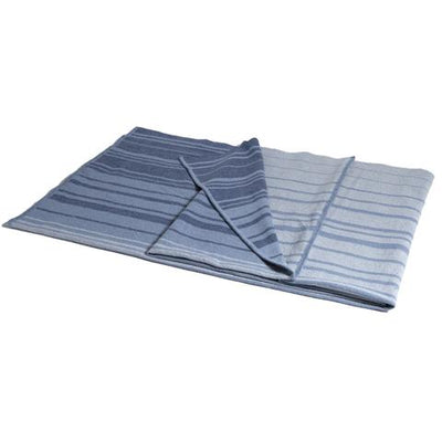 Eco Woven Stripe Throw (Tri-Panel Blue Stripe/Milk)