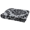 Eco Damask Reversible Throw Blanket (Aluminum/Milk)