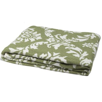 Eco Damask Reversible Throw Blanket (Apple/Milk)