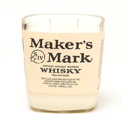 Maker's Mark Whisky Bottle Candle
