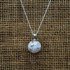 Round Recycled Glass Pendant Necklace