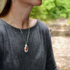 Teardrop Eco-Friendly Pendant Necklace in Millefiori