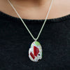 Vetrazzo Teardrop Pendant Necklace in Millefiori