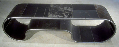 Mongoloid Reclaimed Metal Black Bench or Table